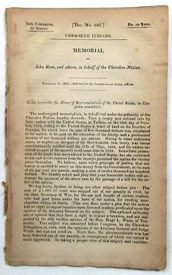 1829 JOHN ROSS Cherokee Indians – Seeking Right to Tax Licensed American Traders