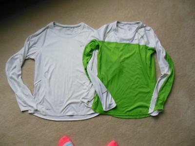 Lot of 2 NIKE FIT DRY Womens Athletic Running Shirts Sz M MUST SEE!! WOW