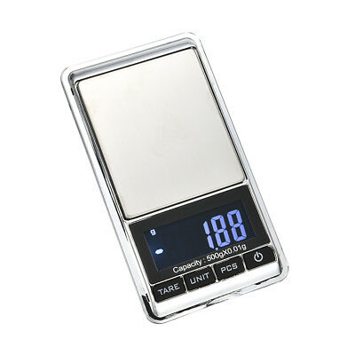 500g x 0.01g Mini LCD Digital Pocket Jewelry Scale with Leather Case