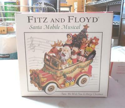 Fitz And Floyd Santa Mobile Musical-In Box-Plays Music