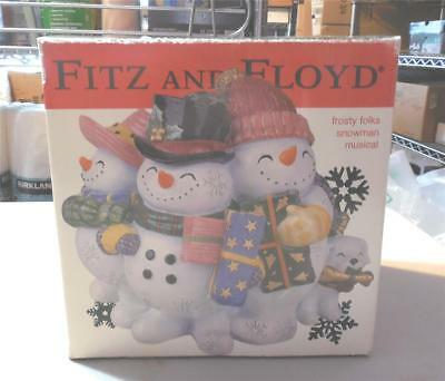 Fitz And Floyd Frosty Folks Snowman Musical-In Box-Plays Music