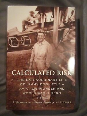CALCULATED RISK by JONNA DOOLITTLE HOPPES Signed 1st Edition Jimmy Doolittle