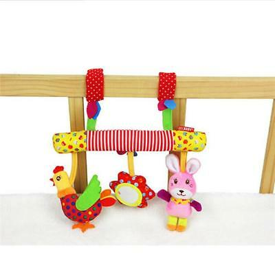 Baby Infant Rattles Plush Animal Stroller Music Hanging Doll Bed Bell Toy BS