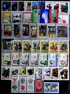 Poland: 1960's Stamp Collection Mostly Complete Sets All Never Hinged Cto's