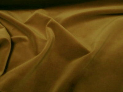 90 cm HONEY MUSTARD GOLD Cotton Velvet  UPHOLSTERY  fabric Remnant piece