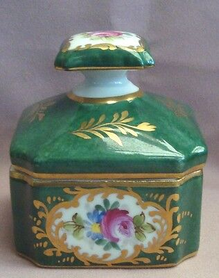 "Limoges Trinket Dish Lidded + Base Mark ""decore main"" Vintage Porcelain Ex Cond"