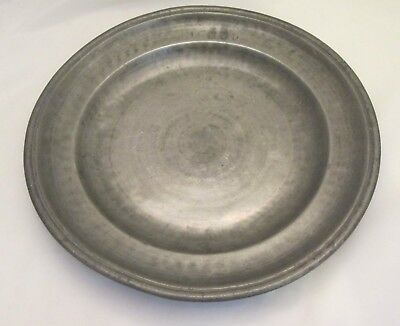 A Good 19th Pewter Charger / Platter - Touchmarks - Kitchenalia