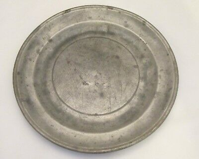 A Good 19th Century Pewter Side Plate - Touchmark - Antique - Kitchenalia