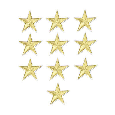 10Pcs Star Patches Embroidery Clothes Appliqued Diy Stickers Sewing Motif Badge