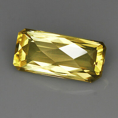"5.1Ct Lemon Citrine ""Irregular-Rect"" Precious Faceting MQLC253"