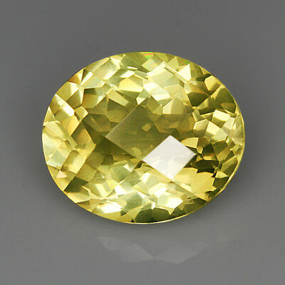 "19.7Ct Lemon Citrine ""Sparkling Oval"" Precious Faceting MQLC256"