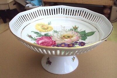 Superb Jaffe Rose Fine Porcelain Presentation Fruit Bowl Very Pretty.