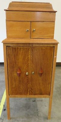 Antique Wooden Academy Gramophone Unit Cupboard Vintage Retro No Record Player