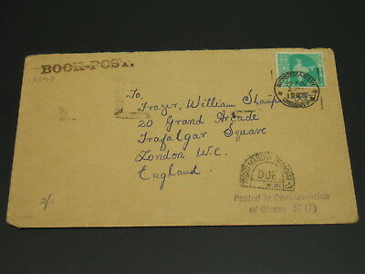 India 1950s? Postage due cover to UK *19949