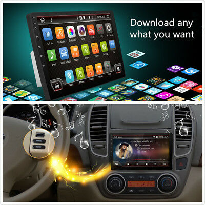 """10.1"""" 2-Din 2G+32G Ultra thin Android 6.0 Quad-Core Car Stereo Radio GPS Wifi 4G"""