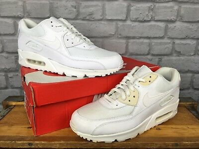 Nike Air Max 90 Essential Mens White Leather Mesh Trainers Various Sizes