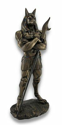 Bronze Color Ancient Egyptian Might Anubis Deity of the Dead Figurine Statue