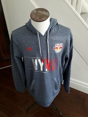 GENUINE MEN'S New York Red Bull Football HOODED Top, Adidas, Size  XL