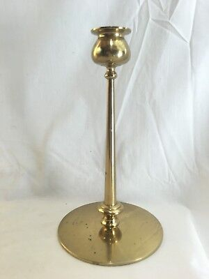 "Very Nice period unsigned Jarvie Beta Form Brass Candlestick 8 3/4"" tall"