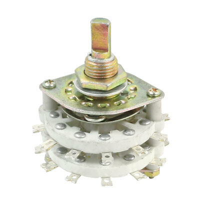 6P3T 6 Pole 3 Throw 2 Decks 24Pin Band Channael Rotary Switch Selector