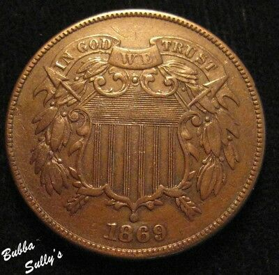 1869 Two Cent Piece <> XF Details