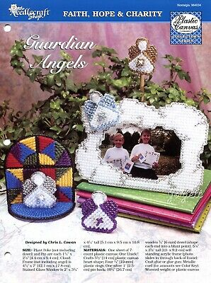 Guardian Angels ~ Stained Glass Angel & More plastic canvas patterns
