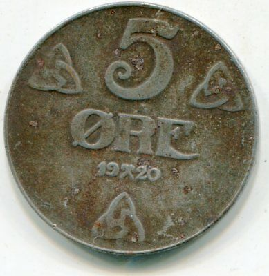 Norway 5 Ore  1920   lotsep2903