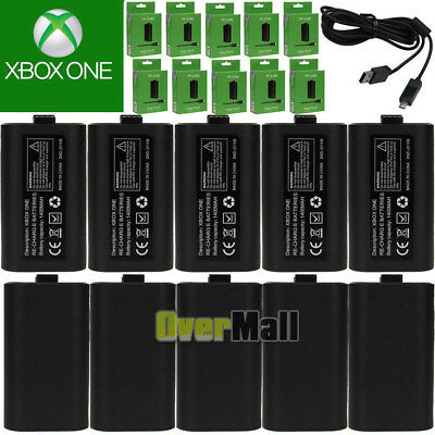 (10 Pack) For XBox One Charge and Play Kit Rechargeable Battery & Charging Cable