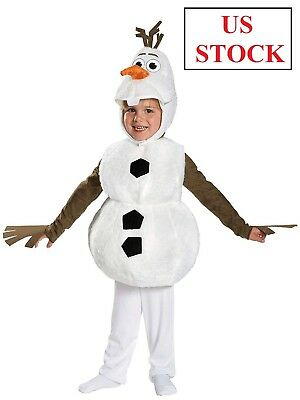 Toddler Frozen Olaf Deluxe Costume Disney Disguise Child New Halloween Baby NEW