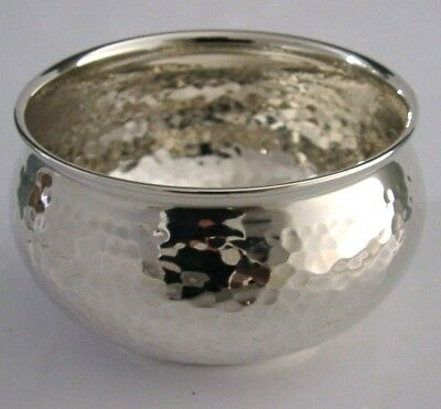 BEAUTIFUL 900 SILVER ARTS AND CRAFTS PLANISHED BOWL c1940s 79g