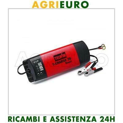 Caricabatterie e mantenitore Telwin T-Charge 20 Boost - batterie 12-24V - 110 W