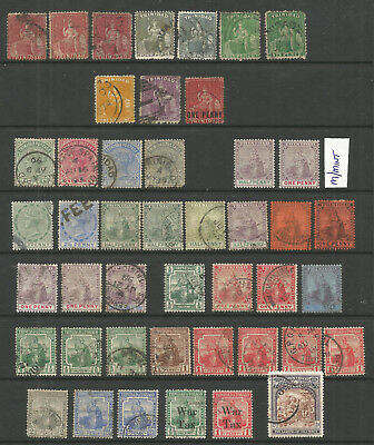 Trinidad And Tobago Qv To Qe2  Selection  X  100  Mint And Used (3 Pages)