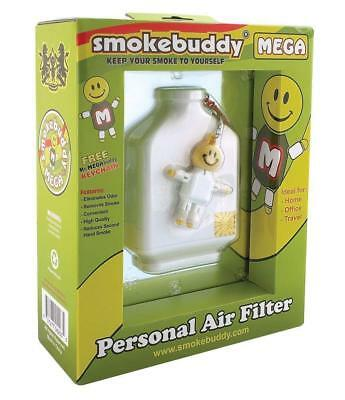 Smoke Buddy MEGA Personal Air Purifier Cleaner Filter Removes Odor (White)