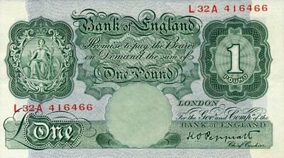 Bank of England Great Britain  1 Pound nd   EF
