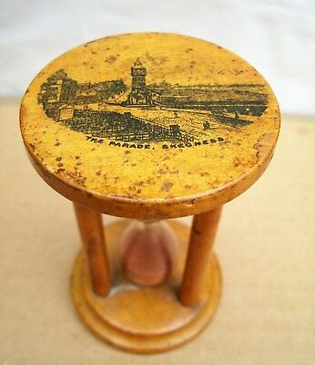 ANTIQUE MAUCHLINE WARE EGG TIMER - The Parade Skegness