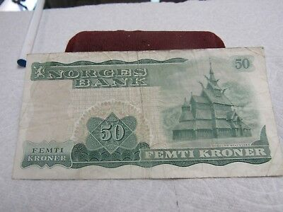 1973 Norges Bank Femti Kroner=Circulated  # T-39