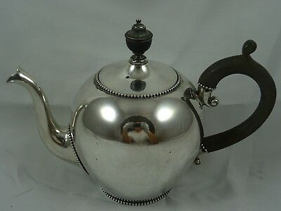 SMART, DUTCH solid silver TEA POT, 1872, 450gm