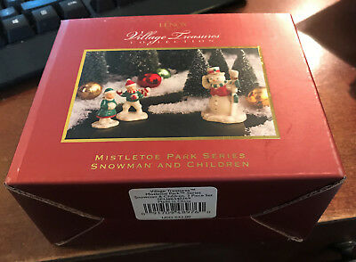 Lenox Village Treasures Mistletoe Park Series - Snowman and Children Accessory