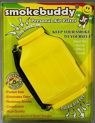 Smoke Buddy Junior Personal Air Purifier Cleaner Filter Removes Odor (Yellow)