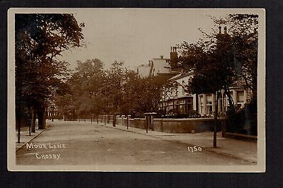 Crosby,  Moor Lane - north of Liverpool - real photographic postcard