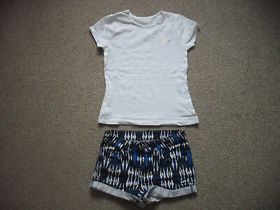 girls hotpants/shorts and top age 8-9 years