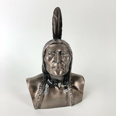 Vintage Indian Native American Brave Metal Bank by Banthrico Chicago USA