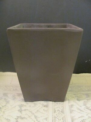 #144 Vintage Japanese Pottery Bonsai Pot Cascade Brown Unglazed