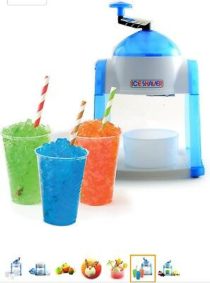 Hand Ice Shaver Snow Cones Manual Shaved Icee Machines Small Maker Kid Kitchen