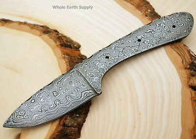 Damascus Skinning Knife Blank Blade Hunting Small Skinner Blanks Steel 1095HC