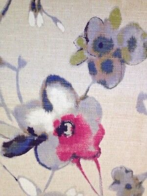 """DURALEE PERCH SEAGLASS D4124 BIRD BUTTERFLY EXCLUSIVE FABRIC BY YARD 54/""""W"""