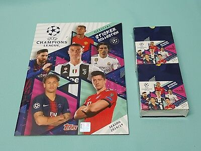 Topps Champions League Sticker 2018/2019 Sammelalbum + 2 x Display 18/19 Album