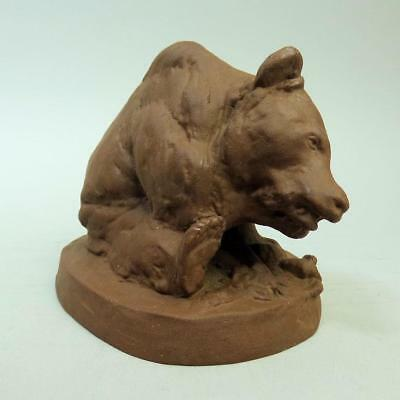 Antique Meissen Bottger Brown Bear Figure A1059