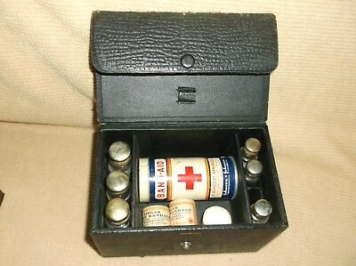 antique field kit, Band-Aid, apothecary, pharmaceutical, bottles, first aid...