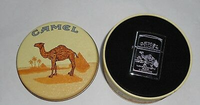 VINTAGE 1990s ETCHED CAMEL LIGHTER in TIN. NEW old STOCK. UNUSED. NO RESERVE.